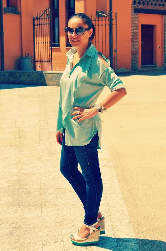 outfit-sarenza-shoes-zeppe-camicia-asimmetrica-fashion-blogger