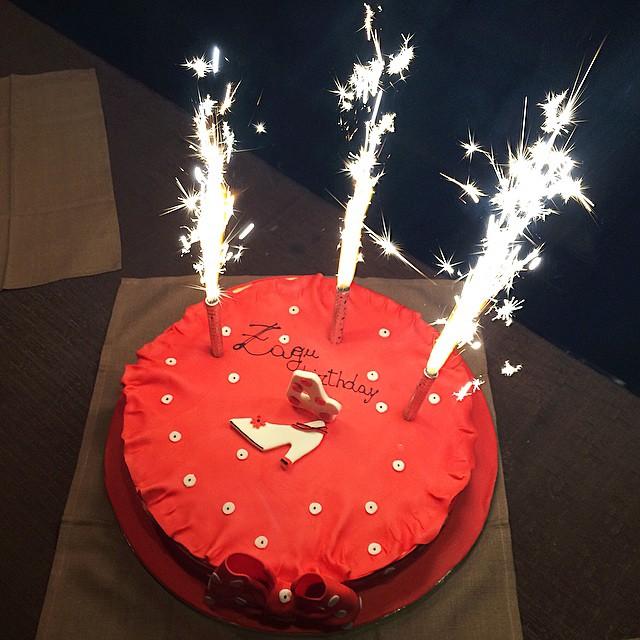 #zaguparty + #zagutorta= happy Birthday #zagufashion!!! Torta bella e buonissima grazie a #pastichéri @amarastra ??❤️✌️?