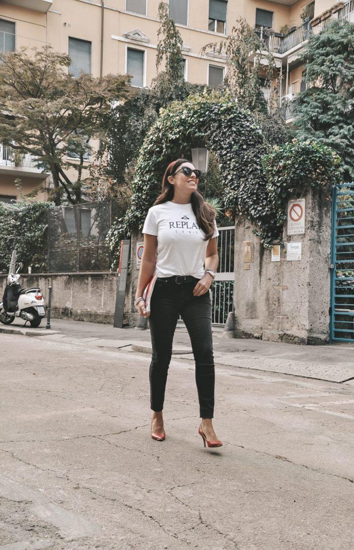 t-shirt da donna replay